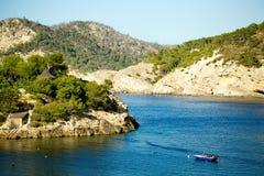 Vista sul mare Ibiza Fotografia Stock