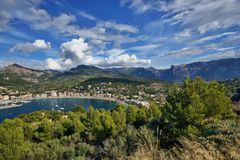 La Spagna Maiorca Port de Soller fotografia stock libera da diritti