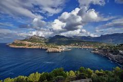 La Spagna Maiorca Port de Soller immagine stock