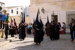 La Spagna, parata di celebrazione di Pasqua a Jerez Fotografie Stock Libere da Diritti