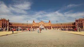 La Spagna quadra Plaza de Espana, Siviglia, Spagna immagini stock libere da diritti