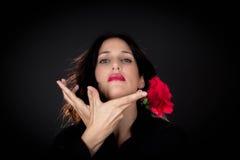 La Spagna tradizionale, ballerino spagnolo fotografia stock