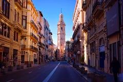 La Spagna, Valencia, Città Vecchia, centro, Santa Catalina, La Paz Street fotografia stock libera da diritti