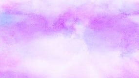 La spazzola artistica viola spalmata di colore di acqua di pendenza di effetto delicato dell'inchiostro ha dipinto il fondo della fotografia stock libera da diritti