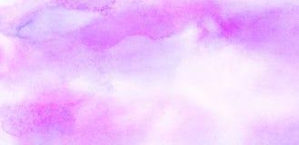 La spazzola artistica viola spalmata di colore di acqua di pendenza di effetto delicato dell'inchiostro ha dipinto il fondo della immagini stock libere da diritti