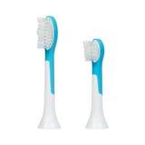La spazzola della sostituzione si dirige verso lo spazzolino da denti ultrasonico elettrico Immagini Stock Libere da Diritti