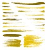 La spazzola di giallo di vettore schizza Immagine Stock Libera da Diritti