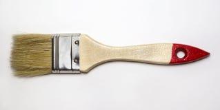 La spazzola di legno per la finitura lavora a fondo bianco Fotografia Stock Libera da Diritti