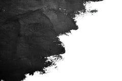 La spazzola nera segna le pitture ad olio su Libro Bianco Fotografia Stock Libera da Diritti