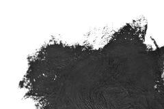 La spazzola nera segna le pitture ad olio su Libro Bianco Immagine Stock Libera da Diritti