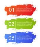 La spazzola segna l'insegna di opzioni di infographics Fotografie Stock
