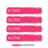 La spazzola segna l'insegna di opzioni di infographics Fotografia Stock Libera da Diritti