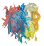 La spazzola segna multicolore Fotografia Stock Libera da Diritti