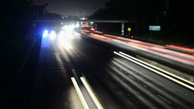La speedway light trails stock footage