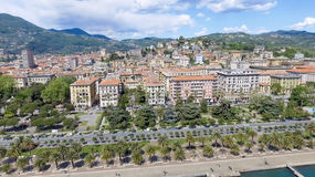 La Spezia city skyline, aerial view on a beautiful day Royalty Free Stock Photo