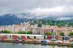 La Spezia-Hafen und Viale Italien Stockfoto