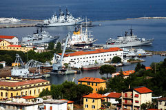La Spezia Harbor Royalty Free Stock Photos