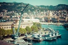 La Spezia, Italia, el 10 de agosto de 2013: Puerto, costa ligur, Italia Imagenes de archivo