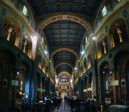 LA SPEZIA, ITALIA - 19 GIUGNO 2016: La gente visita la chiesa locale della nostra signora delle nevi (della Neve di Chiesa di Nos immagine stock