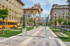 La Spezia/Liguria/Italien/Mai 2018: Historiska byggnader och royaltyfri bild