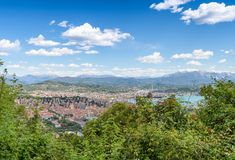 La Spezia panoramic skyline from the hill, Italy.  royalty free stock images
