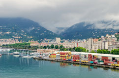 La Spezia port and Morin Royalty Free Stock Photography