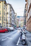 La Spezia typical street Royalty Free Stock Photo