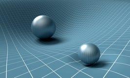 La sphère affecte l'espace/temps autour de elle Photo stock