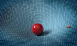 La sphère affecte l'espace/temps autour de elle Photos libres de droits