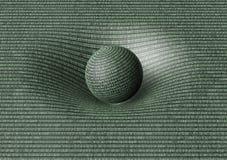 La sphère binaire affecte l'espace/temps autour de elle Photos stock