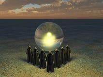 La sphère devinante Images stock