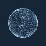 La sphère se composant des points Connexions numériques globales Grille abstraite de globe Illustration de sphère de Wireframe Gr Images libres de droits