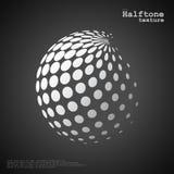 La sphère tramée abstraite dans la couleur blanche et le noir colorent le fond images stock