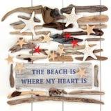 La spiaggia è dove il mio cuore è Immagine Stock Libera da Diritti