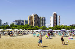 La spiaggia al mare in Italia Immagini Stock Libere da Diritti