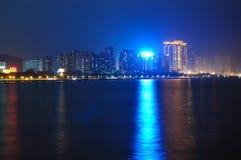 La spiaggia alla notte Fotografie Stock Libere da Diritti