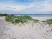 La spiaggia Baltico di Heiligenhafen Germania vede fotografia stock libera da diritti