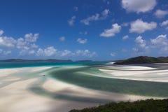 La spiaggia bianca di sollevamento Fotografie Stock
