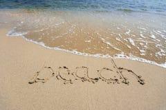 Segno della spiaggia Fotografie Stock Libere da Diritti