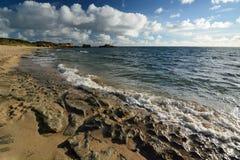 La spiaggia a capo Peron Rockingham Australia occidentale Fotografie Stock