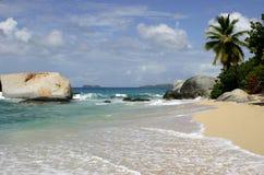 La spiaggia dei bagni Immagine Stock Libera da Diritti