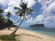 La spiaggia dei Samoa è paradiso Immagine Stock