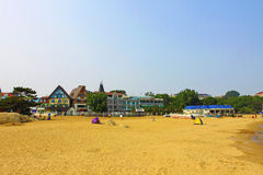 La spiaggia del mare Immagine Stock Libera da Diritti
