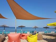 La spiaggia del mare colora il sedile Immagini Stock