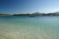 La spiaggia dell'alabastro nel Fiji fotografia stock libera da diritti