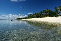 La spiaggia dell'alabastro nell'isola del South Pacific immagini stock