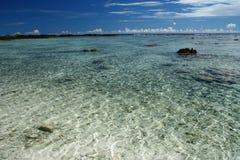La spiaggia dell'alabastro in Samoa, South Pacific immagini stock