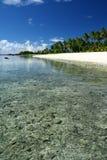 La spiaggia dell'alabastro in Samoa, South Pacific immagini stock libere da diritti