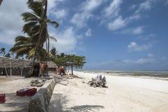 La spiaggia dell'isola di Zanzibar Fotografia Stock Libera da Diritti