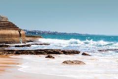 La spiaggia dell'oceano Fotografia Stock